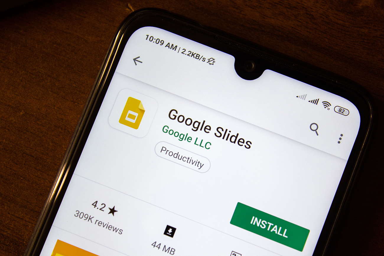 google slides dla digital signage